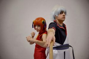 Our warrior soul - Gintoki and Kagura by Carlos-Sakata
