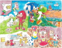 Sonic and Yoshi's Colorful Easter! by Koopakrusher
