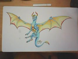 Blue and Gold Dragon Playmat by Pure-Dragon97