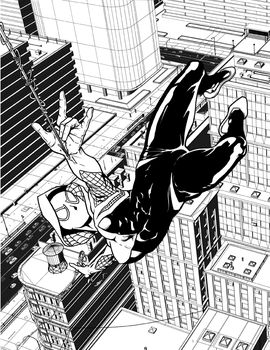 Spider Gwen BW DA by hawk5