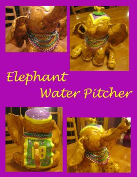 Elephant Water Pitcher by Rivereyes123
