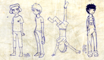 SP Boys - Cartoony Sketches by Shel-chan