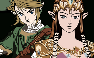 Link and Zelda by Arlian