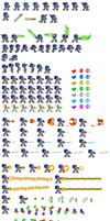 Sonic X sprite sheet by Morpholomewy