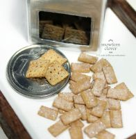 1:12 scale dollhouse miniature sugar crackers by Snowfern