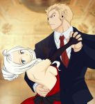 Mira and Laxus coloring by AYUM23