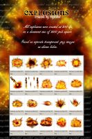 Explosions .png images by mystikel