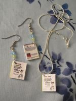 'How Being...' Book Charm Jewelry Set by emmadreamstar