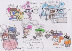 Cartoons_Super doodles 2013 by RegularBluejay-girl