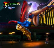 Supergirl-falling by tecnoguru