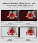 Valentine Wallpaper - Hands Holding Heart by Techievous