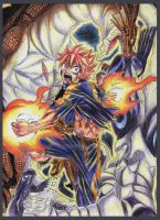 Natsu Dragneel x Igneel and Acnologia by Ashreille-chan