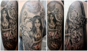 Alice: Madness Returns Tattoo by rdyntsikou