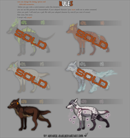 wolf creatures adopt 6$ , 2/6 OPEN! by Advance-Rain