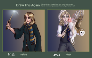 Drawn Again Ravenclaw by Doodlee-a