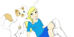 Fionna and Cake by JustHannahful