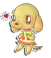 Favourite villager 1: Goldie by fuwante-chan