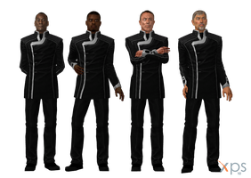 Hackett, Anderson, Jacob, Zaeed Formal for XPS by Just-Jasper