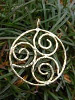 Brass Spiral Pendant by MoonLitCreations