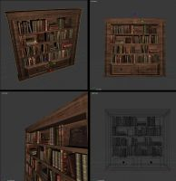 Bookshelf 3D obj by alkhor