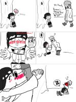 Shino and Hinata comic by AerodynamicKitten