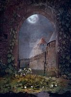 PREMIUM background - A Medieval-Place by Euselia