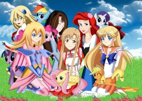 .: Girls and Ponys :. by Sincity2100
