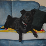 The blue throne - Acrylic painting by BLACKNIGHTINGALE81