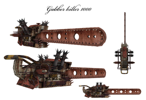 Thesayas steampunk  chainsaw by shaddam89
