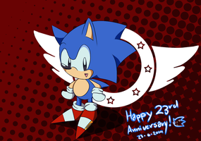 23 Years of Sonic Speed :D by Lucky-Sonic-77-d