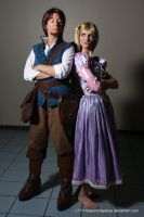 Tangled: Flynn and Rapunzel by Ravenspiritmage