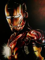 Iron Man Painting by VanZanto
