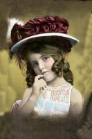 Vintage Little Girl 3 by HauntingVisionsStock