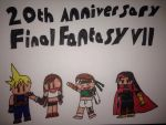FF7 20th anniversary  by MrL3821