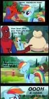 Spidey and Rainbow Find a Pet by MOGNECIOtheBRAVE