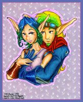 Jak and Keira Dabblings by MiraKHall