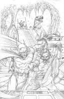 Batcave Commission Pencils by RudyVasquez
