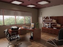 Simple office room by GTOdesign
