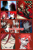 Grell Sutcliff Collage by VampireCatz