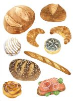 Bread and Toast Studies by bluealaris