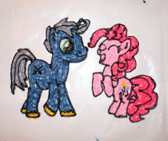 Silvermane and Pinkie Pie!! by SoarinPie