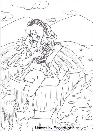 The Siren's Song -- Lineart