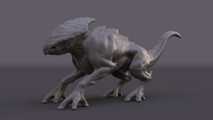 Creature Final Model by AndreasWerchmeister