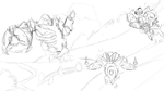 The end of Terraria - sketch by GinJuice