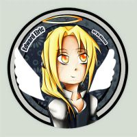 Edward Elric button by Khazaa
