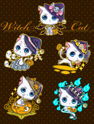 Witch Cat by BeanPrince