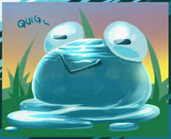 Neopets - Water Quiggle by nyausi