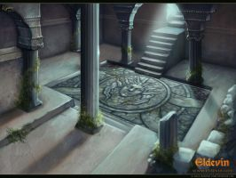 Eldevin - Exarch Tiaund's Mausoleum Entrance by LouisaGallie