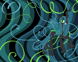 Queen Chrysalis Wallpaper by PrincessCandra