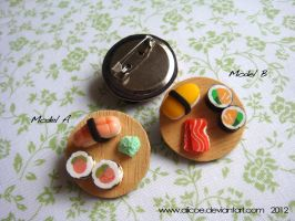 Japanese Set Buttons by alicoe
